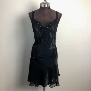 Vintage Victoria's Secret Black Silk Lingerie